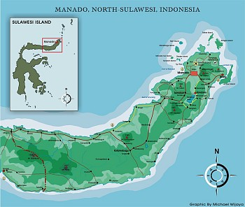 North Sulawesi Map - Click for large version