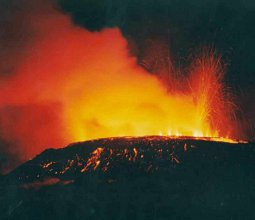 Eruption at Mt. Soputan